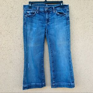 7 for all mankind crop dojo jeans size 30